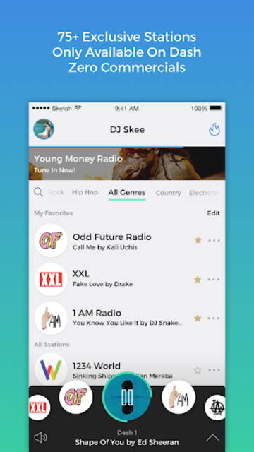 Dash Radio- Free Premium Radio, No Commercials screenshot 1