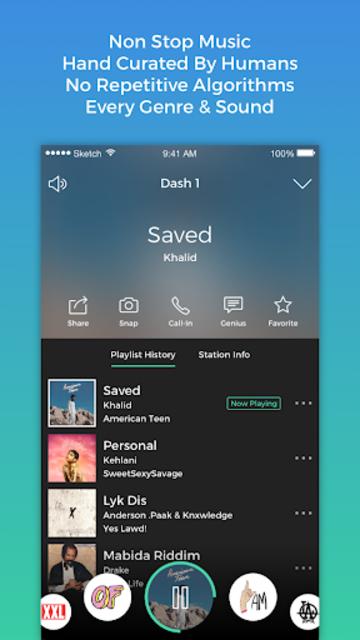 Dash Radio- Free Premium Radio, No Commercials screenshot 3