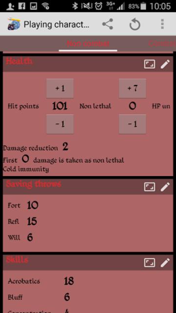 RPGenius: Character Sheets screenshot 1
