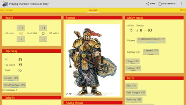 RPGenius: Character Sheets screenshot 2