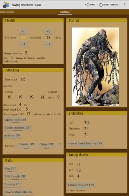 RPGenius: Character Sheets screenshot 4