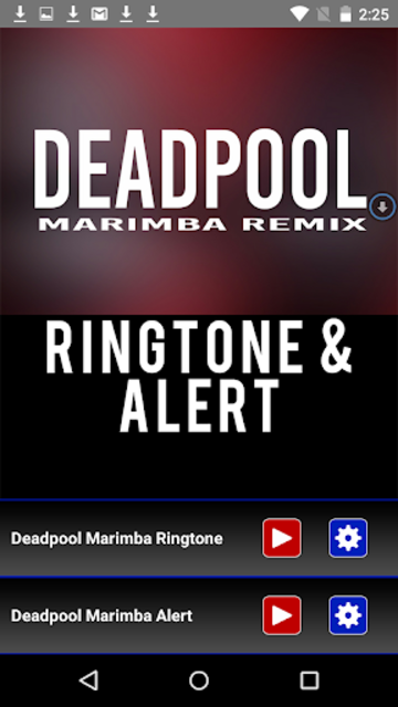 Deadpool Marimba Ringtone screenshot 1