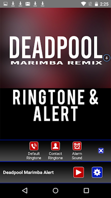 Deadpool Marimba Ringtone screenshot 2