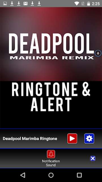 Deadpool Marimba Ringtone screenshot 3