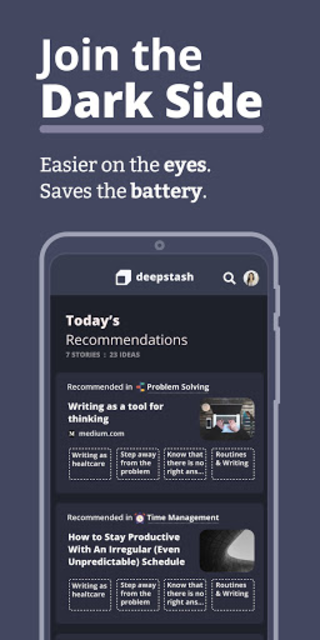 Deepstash - Self Improvement, Motivation & Care screenshot 7