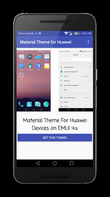 Material Theme for Huawei EMUI screenshot 4