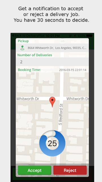 Delivery Plus Driver's App screenshot 1