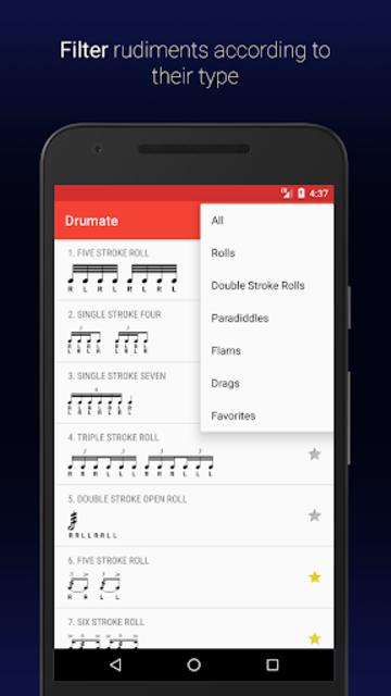 Drumate - Drum Rudiments screenshot 2