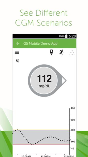 Dexcom G5 Mobile Simulator screenshot 1