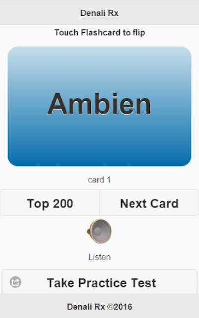 Top 200 Pharmacy Drugs Flashcards screenshot 7