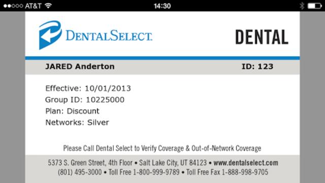 Dental Select Mobile ID screenshot 1