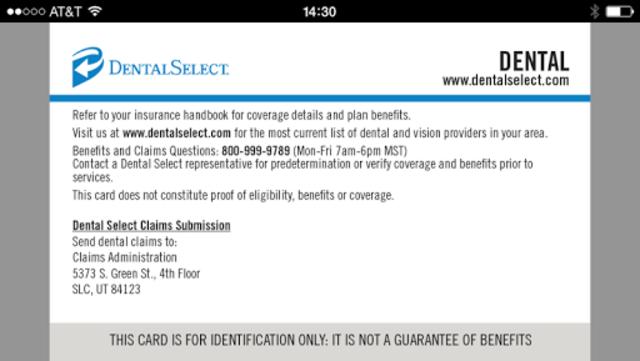 Dental Select Mobile ID screenshot 2