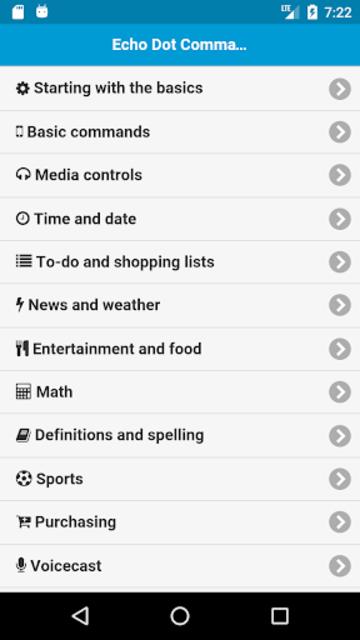 Commands for Echo Dot screenshot 1