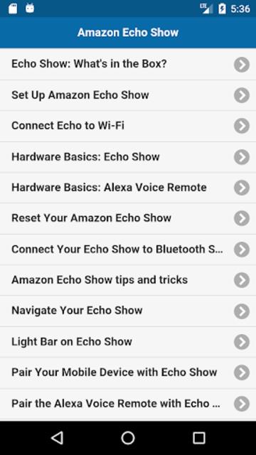 User Guide for Echo Show screenshot 1