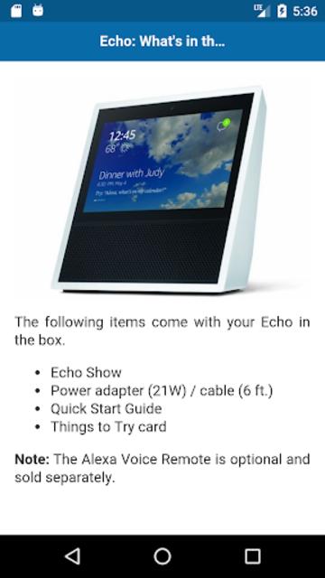 User Guide for Echo Show screenshot 2