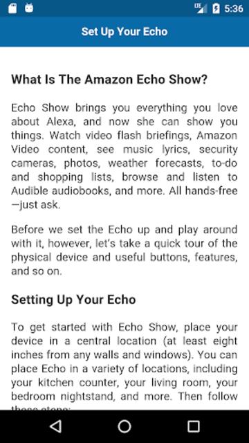 User Guide for Echo Show screenshot 3