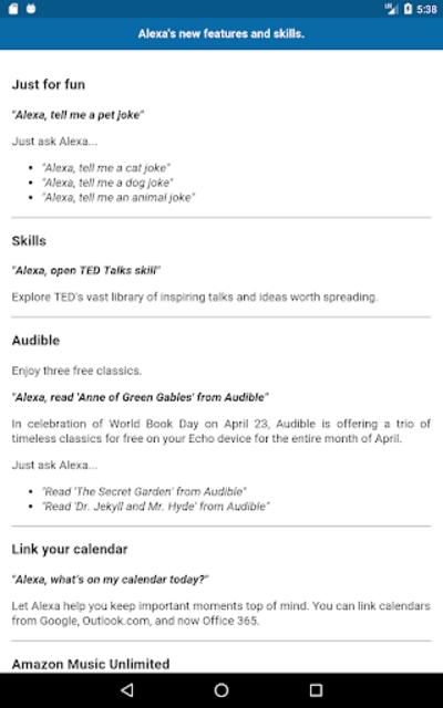 User Guide for Echo Show screenshot 6