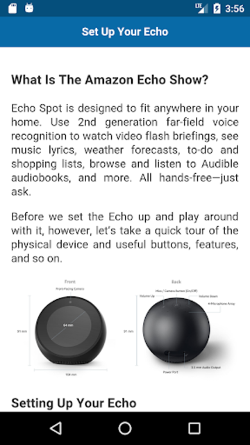 User Guide for Echo Spot screenshot 2