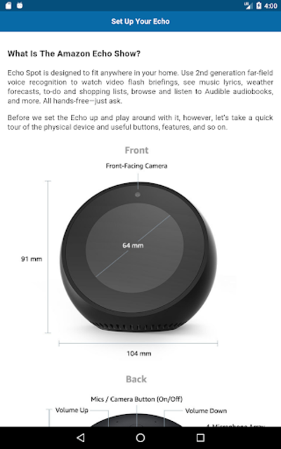 User Guide for Echo Spot screenshot 8
