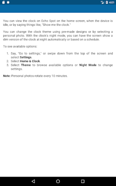 User Guide for Echo Spot screenshot 10