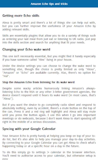 User Guide for Amazon Echo screenshot 2