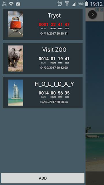 My Big Events Countdown screenshot 3