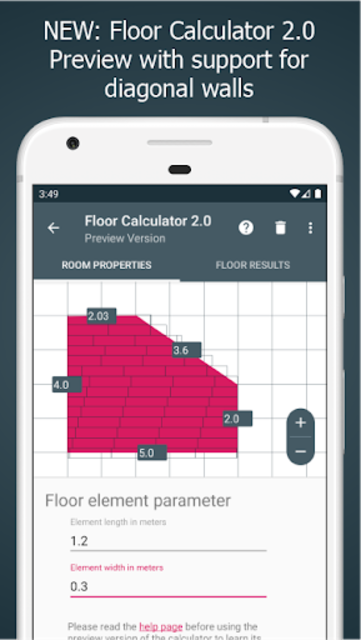 Floor Calculator: Plan & install flooring screenshot 1