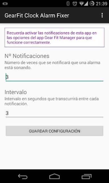GearFit Clock Alarm Fixer screenshot 1