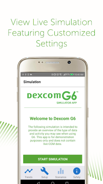 Dexcom G6 Simulator screenshot 3