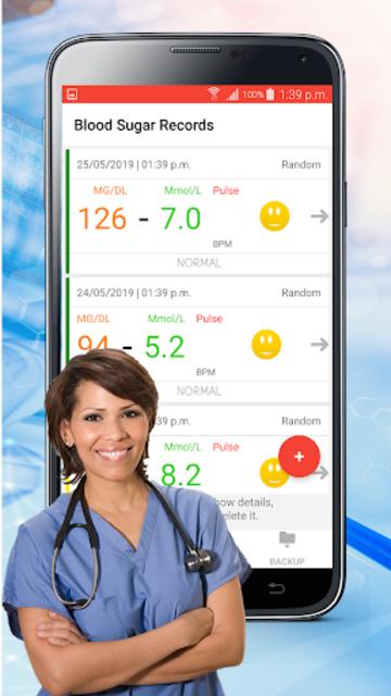 Blood Sugar Check : Diabetes Tracker Glucose Test screenshot 2