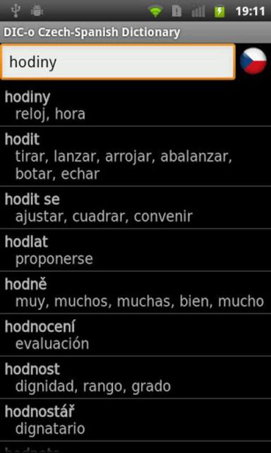 Czech - Spanish offline dict. screenshot 1