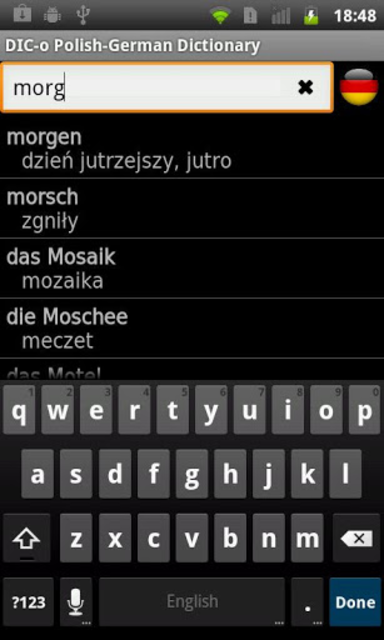 Polish - German offline dict. screenshot 1