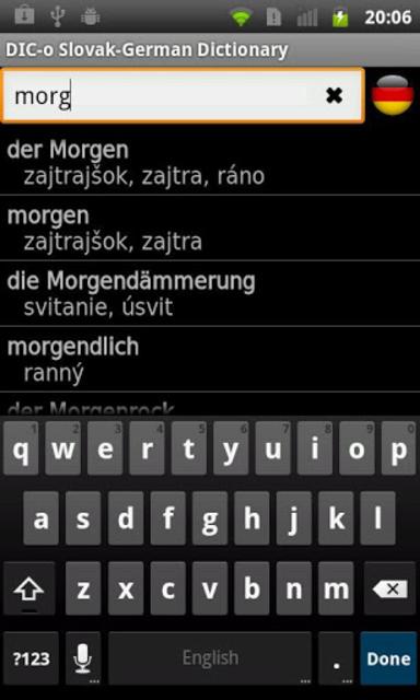 Slovak - German offline dict. screenshot 1