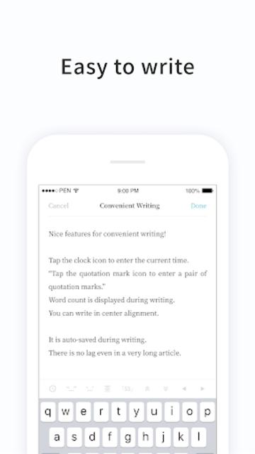 PenCake - Note, Diary, Journal, Writer screenshot 3