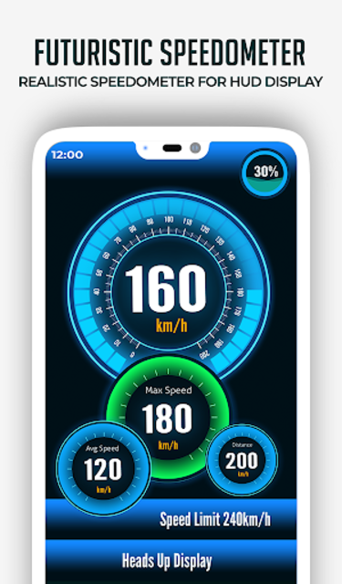 HUD Speedometer Digital: GPS, Speed Limit Widget screenshot 3