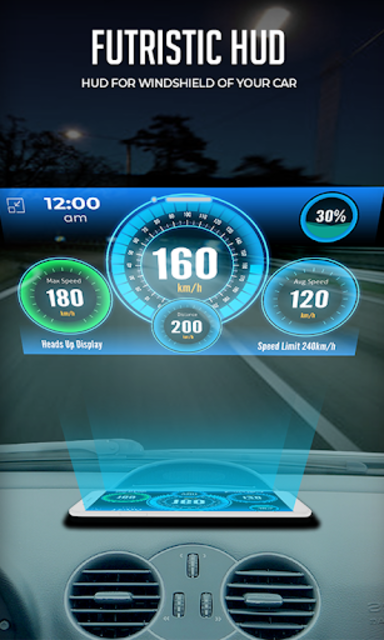 HUD Speedometer Digital: GPS, Speed Limit Widget screenshot 8