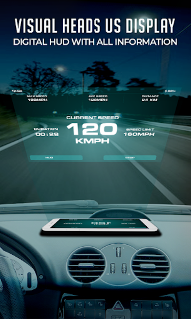 HUD Speedometer Digital: GPS, Speed Limit Widget screenshot 9