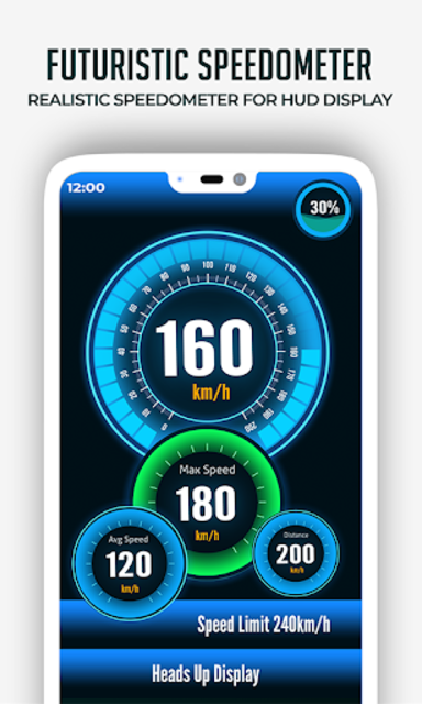 HUD Speedometer Digital: GPS, Speed Limit Widget screenshot 10