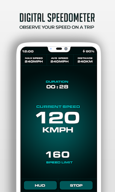HUD Speedometer Digital: GPS, Speed Limit Widget screenshot 11
