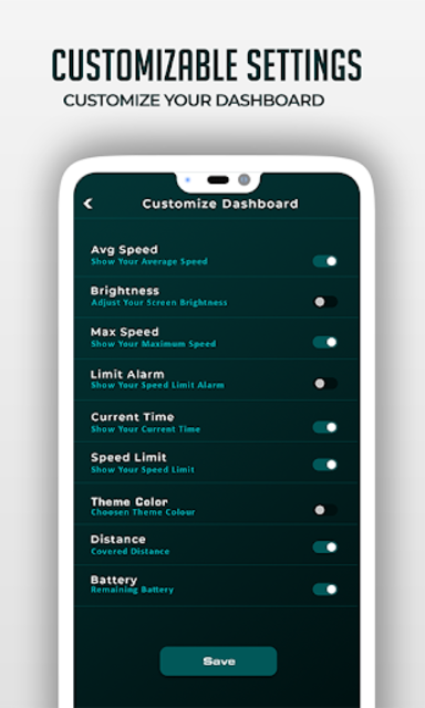 HUD Speedometer Digital: GPS, Speed Limit Widget screenshot 20