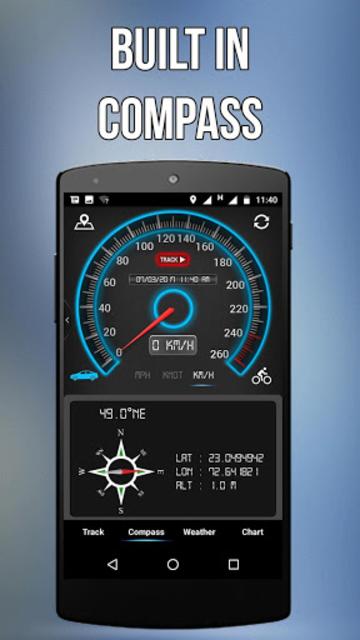 GPS Speedometer, HUD ADS Free screenshot 1