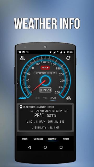 GPS Speedometer, HUD ADS Free screenshot 4