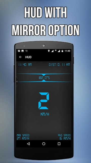 GPS Speedometer, HUD ADS Free screenshot 5