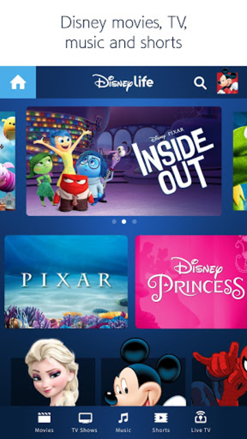 DisneyLife - Watch Movies & TV screenshot 1