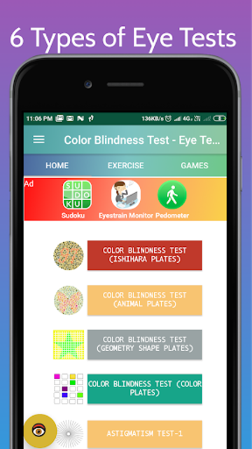 Color Blindness Test, Color Vision Eye Tests screenshot 17