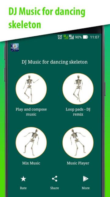 DJ Music for dancing skeleton screenshot 14