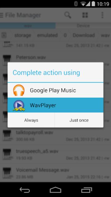WavPlayer screenshot 2
