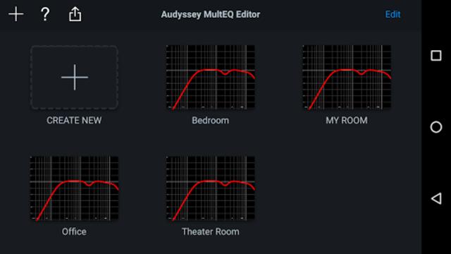 Audyssey MultEQ Editor app screenshot 2