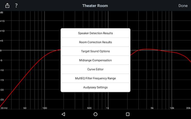 Audyssey MultEQ Editor app screenshot 13