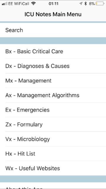 iCU Notes - a free Critical Care Medicine resource screenshot 4